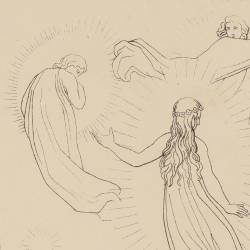Dante talks with many souls (Canto IV. Plate 9)