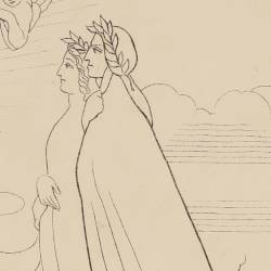 Dante and Beatrice speak with Charles Martel (Canto VIII. Book 8)