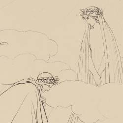 Beatrice encourages Dante to give thanks to God (Canto II. Plate 2)