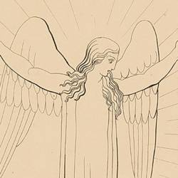 Art imitated nature so well that you would have thought hear from the angel: I greet you (Canto X Plate 14)