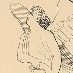 The Count of Montefeltro refers to Dante how an angel ripped him from the clutches of a demon (Canto V. Plate 8)