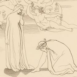 Beatrice reproaches Dante for not following her advice (Canto XXX. Plate 34)