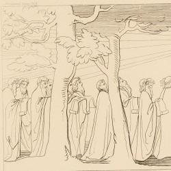 Twenty-four elders majestically advance two by two singing a sacred hymn (Canto XXIX. Plate 33)