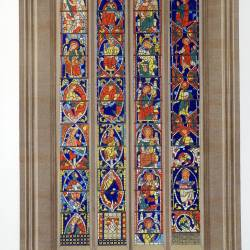Stained glass window of the cathedral of León, belonging to the 13th century (Leon)