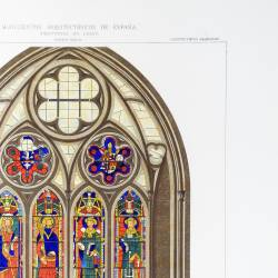 Stained glass window of the cathedral of León, belonging to the 14th century (Leon)