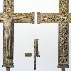 Ivory cross of the kings Don Fernando the first and Doña Sancha, his wife, in the collegiate church of San Isidoro