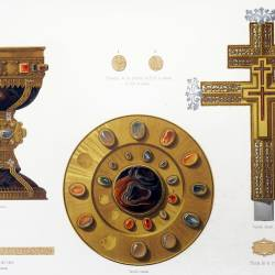 Chalice and paten of Doña Urraca and cross of the miracle existing in the collegiate church of San Isidoro (Leon)