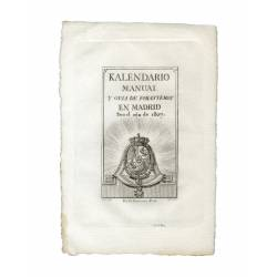 Cover for the Manual Calendar and Outsiders Guide for the year 1807