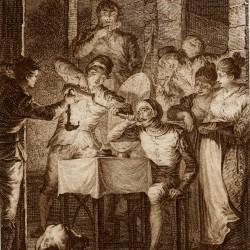 Don Quixote eats at the inn (1st plate)