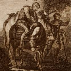 Don Quixote returns injured to his village (2nd plate)