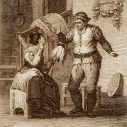 Conversation between Sancho and Teresa Panza (11th plate)