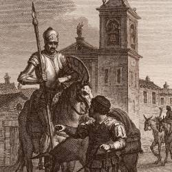 Don Quixote and Sancho at El Toboso (12th plate)