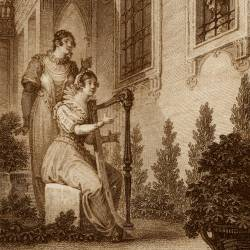 Altasidora sing romances to Don Quixote (17th plate)