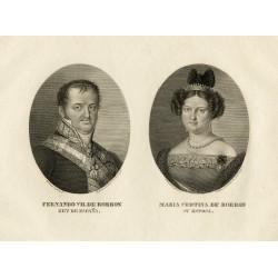 Portrait of Ferdinand VII and Maria Christina of Bourbon
