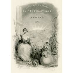 Cover for the Manual Calendar and Outsiders Guide for the year 1854