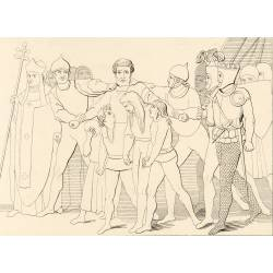 Prison of Count Ugolino and his sons (Chapter XXXIII. Plate 35)