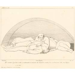 Count Ugolino is condemned to starve among the corpses of his sons (Chapter XXXIII. Plate 36)
