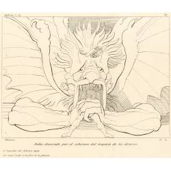Judas devoured by the sovereign of the empire of sorrows (Chapter XXXIV. Plate 37)