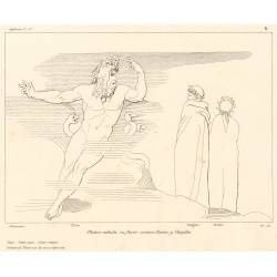 Pluto exhales his fury against Dante and Virgil (Chapter VII. Plate 8)