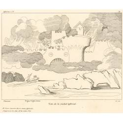 View of the infernal city (Chapter VIII. Plate 9)