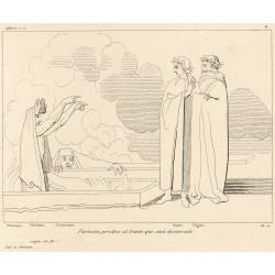 Farinata predicts to Dante that he will be banished (Chapter X Plate 11)
