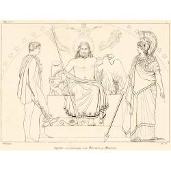 Jupiter is advised by Mercury and Minerva (Book I. Plate 1)