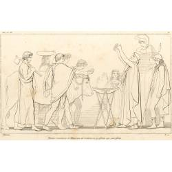 Nestor recognizes Minerva and offers her a sacrifice (Book III. Plate 6)