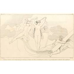 Neptune raises a storm that destroys the ship of Ulysses. Leucota gives her veil to that prince to save him from shipwreck