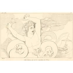 Scilla devours six of Ulysses' companions (Book XII. Plate 20)