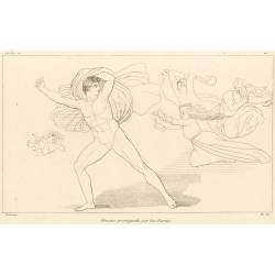 Orestes pursued by the Furies (The Libation Bearers. Plate 22)