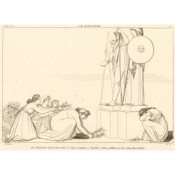 The Danaides beg Jupiter, Juno and Minerva to be favorable (The Suppliants. Act I. Plate 7)