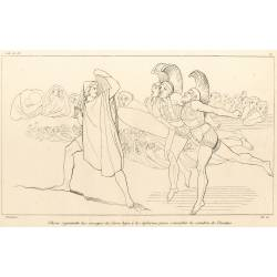 Ulysses goes down to hell to consult the shadow of Tiresias (Book XI. Plate 17)