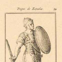 Spanish soldier outfit at the time of the Roman Empire domination