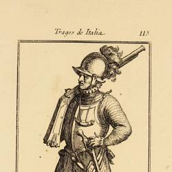 Outfit of a 16th century foot soldier at wartime