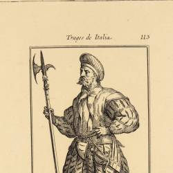 Outfit of an unarmed garrison soldier at time of Charles V