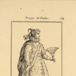 Outfit of cohilian noblewoman, later used in Lombardy and Treviso