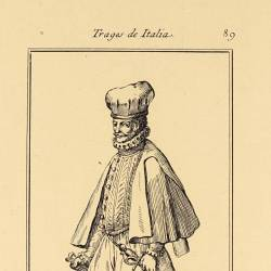 Outfit of the youth of Belluno and other towns in Italy, at the end of the 15th century