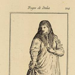 Traje de damas cortesanas de Bolonia