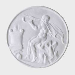 Medallion with a flute-player