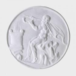 Medallón con flautista