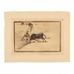 The terrible death of Pepe Illo at Madrid´s bullring (Tauromaquia Plate 33)