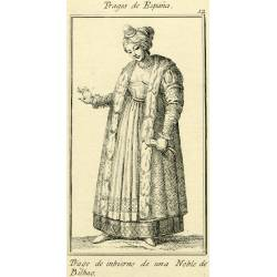 Winter outfit of a noblewoman from Bilbao