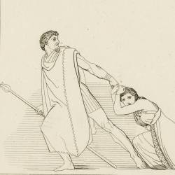 Pelasgus takes under his protection the Danaides (The Suppliants. Act V. Plate 9)