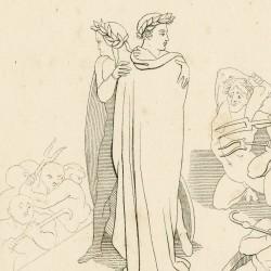 Dante y Virgilio cruzan el puente del sexto valle: están rodeados de demonios furiosos (Chapter XXIII Art. 23)