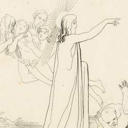Christ victor over death brings out of limbo our father Adam, his son Abel and David (Chapter IV. Plate 4)