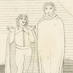 Dante and Virgil come out of hell (Chapter XXXIV. Plate 38)