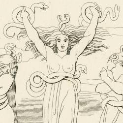The three furies of hell (Chapter IX. Plate 10)