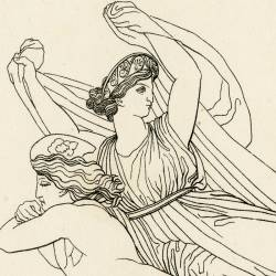 Only a vain painting of Helen remained (Agamemnon. Act II. Plate 16)