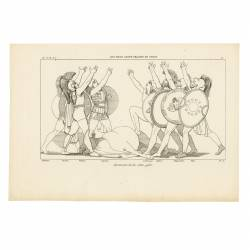 Oath of the seven chiefs (Seven Against Thebes. Act I. Plate 11)