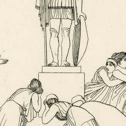Theban's choir (Seven Against Thebes. Act II. Plate 12)